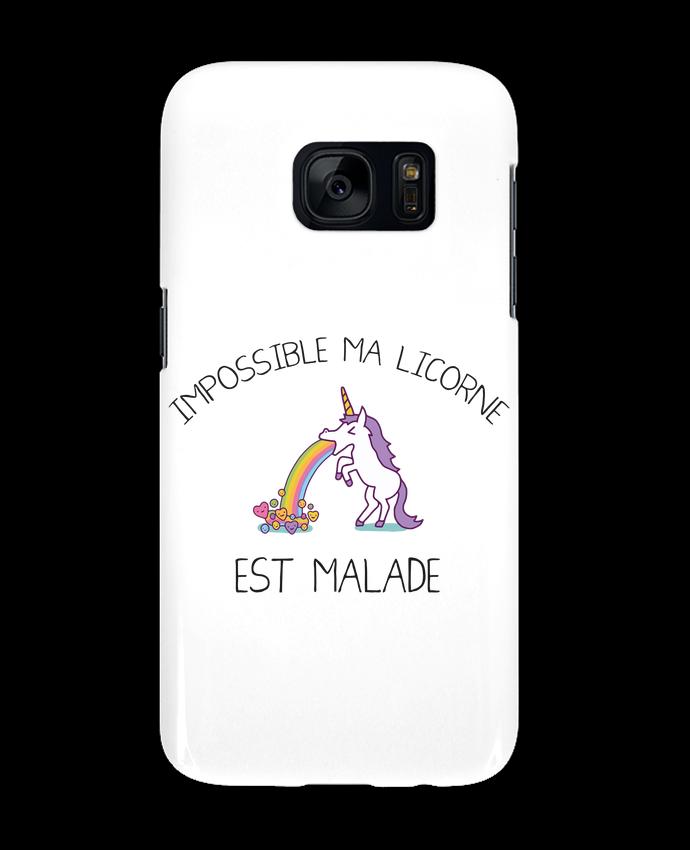 Coque 3D Samsung Galaxy S7 Impossible ma licorne est malade ! par tunetoo