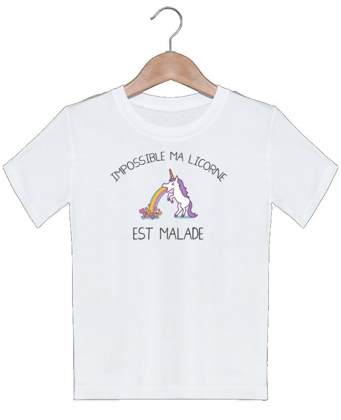 T-shirt garçon motif Impossible ma licorne est malade ! tunetoo