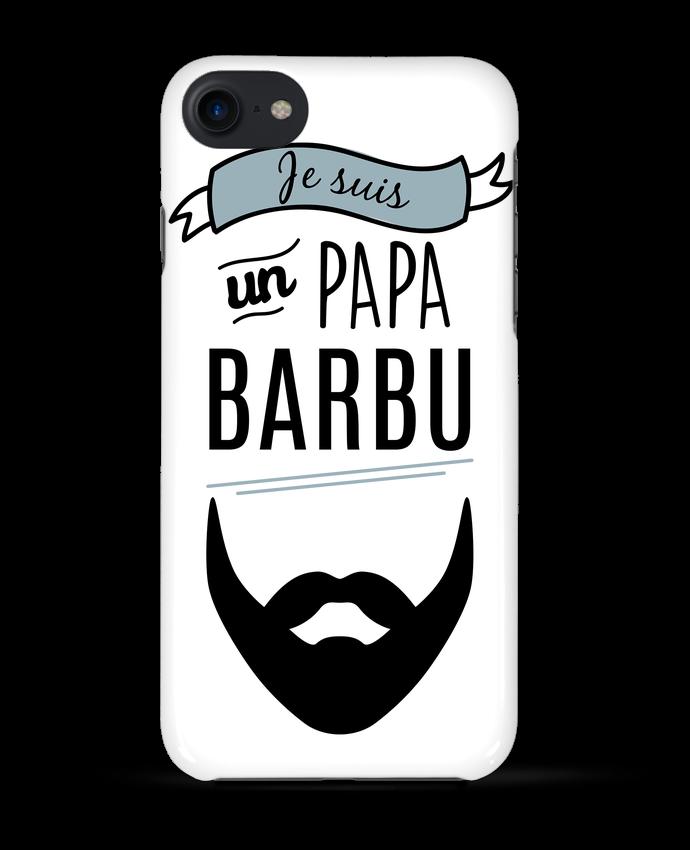 Coque 3D Iphone 7 Je suis un papa barbu de LPMDL