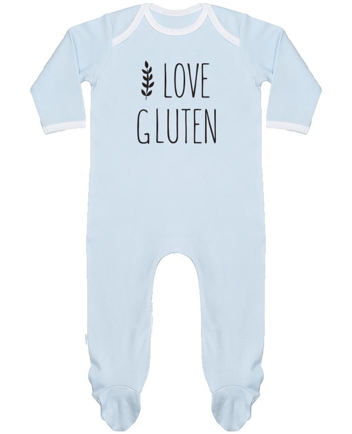 Pyjama Bébé Manches Longues Contrasté I love gluten by Ruuud par Ruuud