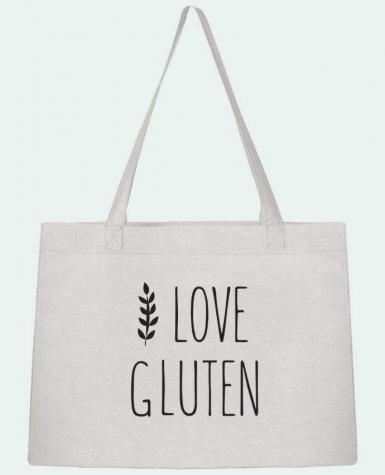 Sac Cabas Shopping Stanley Stella I love gluten by Ruuud par Ruuud