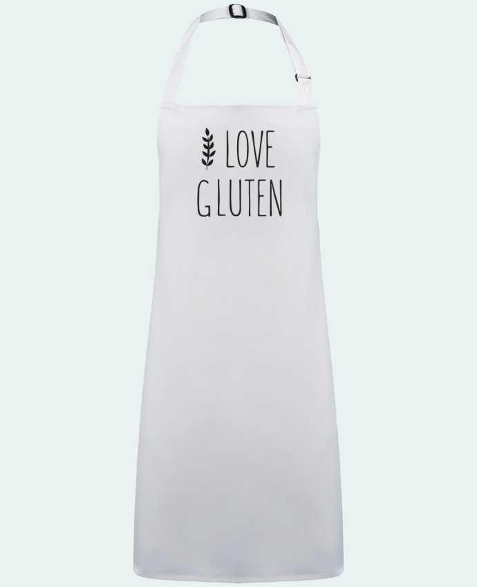 Tablier Sans Poche I love gluten by Ruuud par  Ruuud