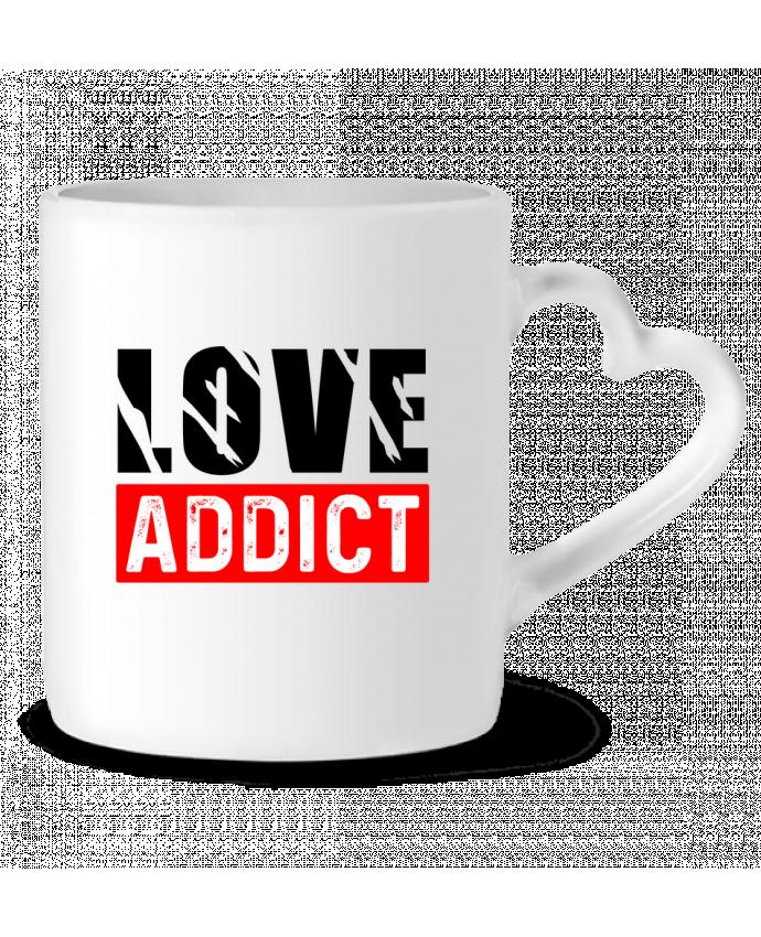 Mug Coeur Love Addict par sole-tshirt