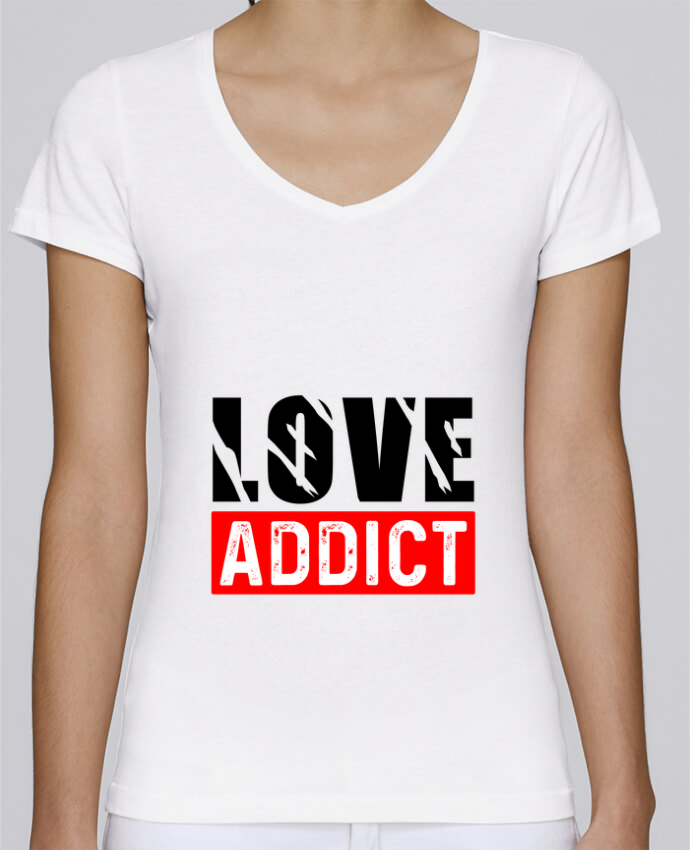 T-shirt Femme Col V Stella Chooses Love Addict par sole-tshirt