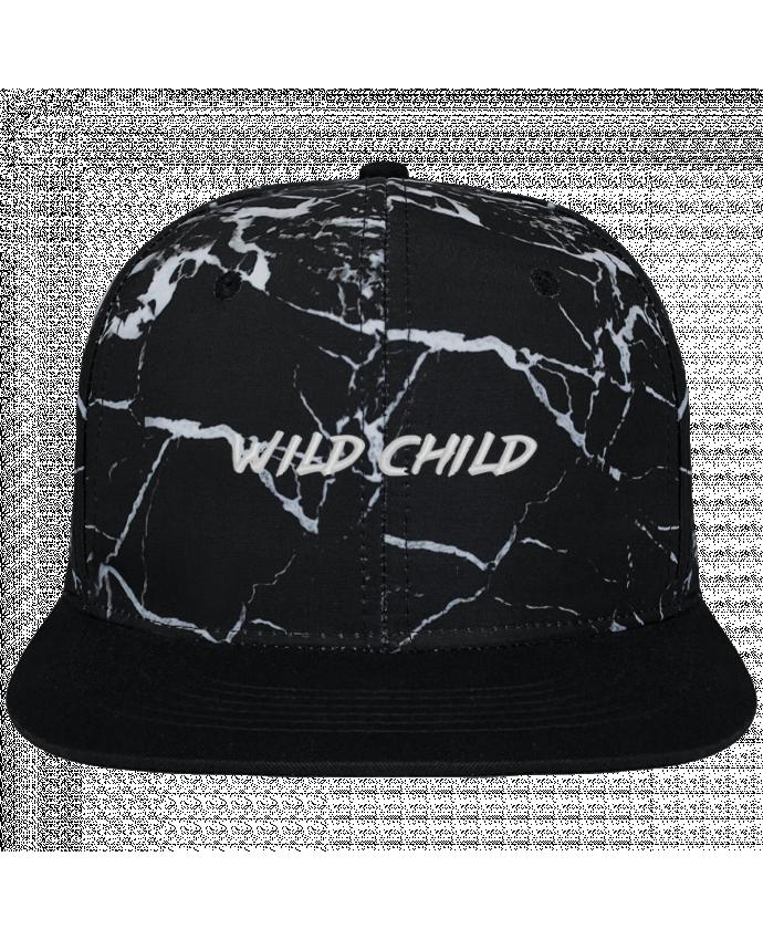 Casquette SnapBack Couronne Graphique Minéral Noir Wild Child brodé et toile imprimée motif minéral noir et blanc