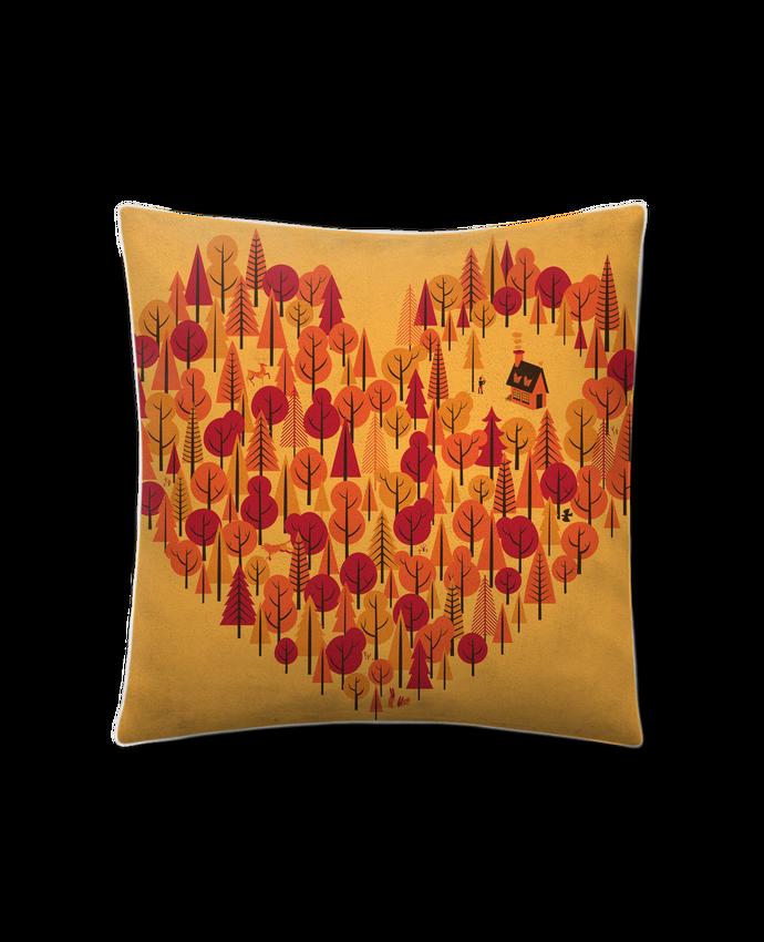 Coussin Toucher Peau de Pêche 41 x 41 cm Wild at Heart par chriswharton