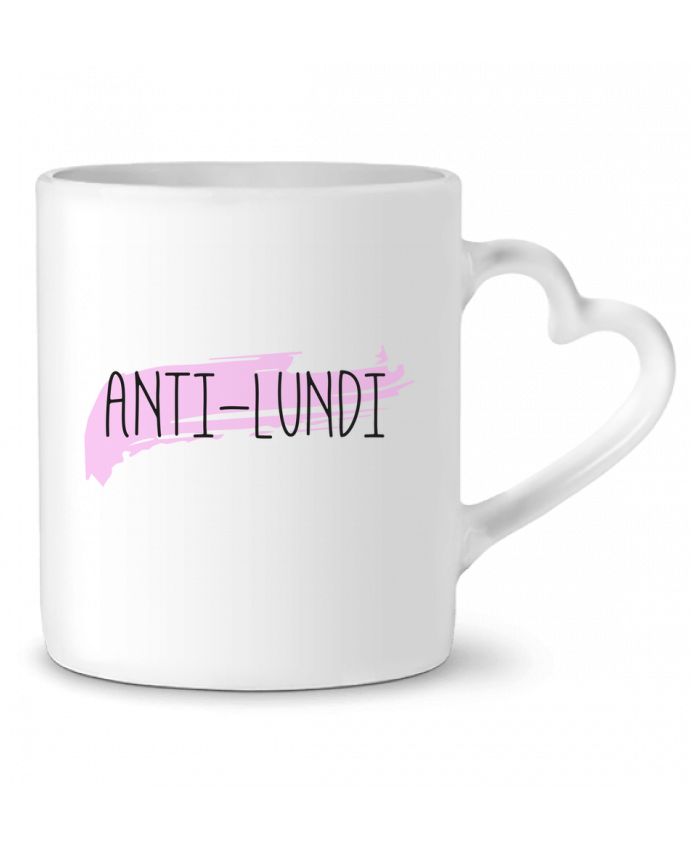 Mug Coeur Anti-lundi par tunetoo