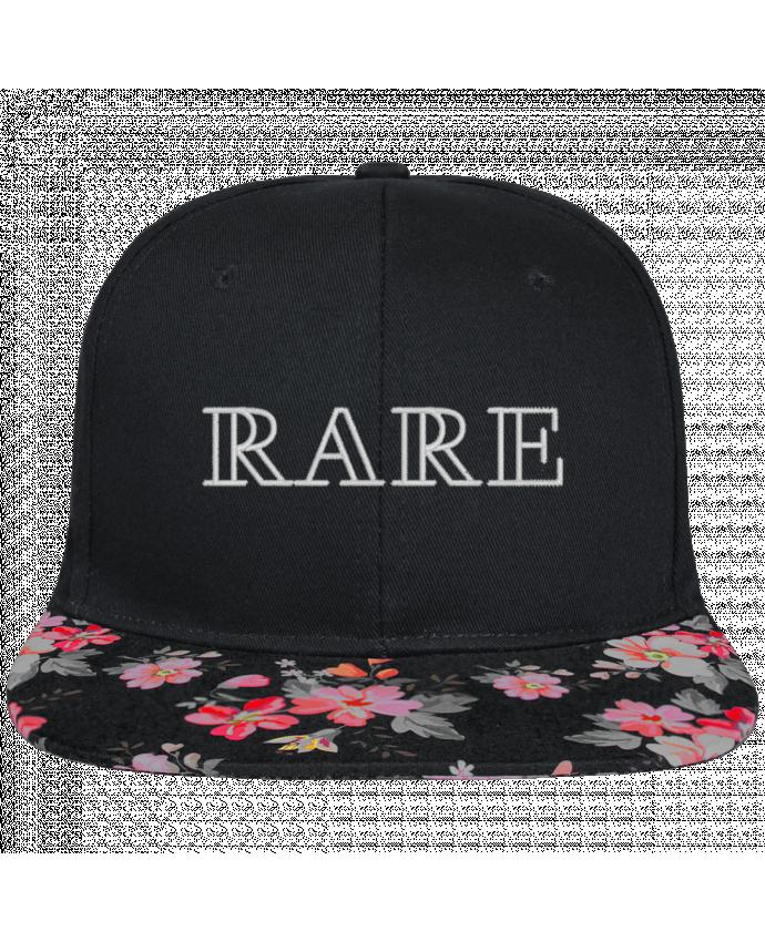 Casquette SnapBack Visière Graphique Noir Floral Rare brodé et visière à motifs 100% polyester et toile coton