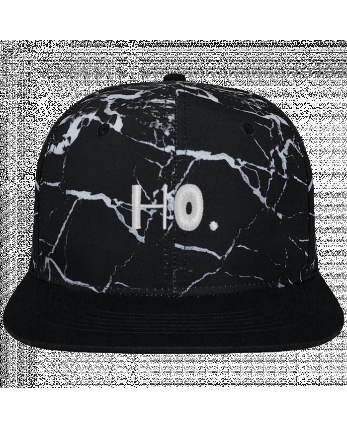 Casquette SnapBack Couronne Graphique Minéral Noir Ho. brodé et toile imprimée motif minéral noir et blanc