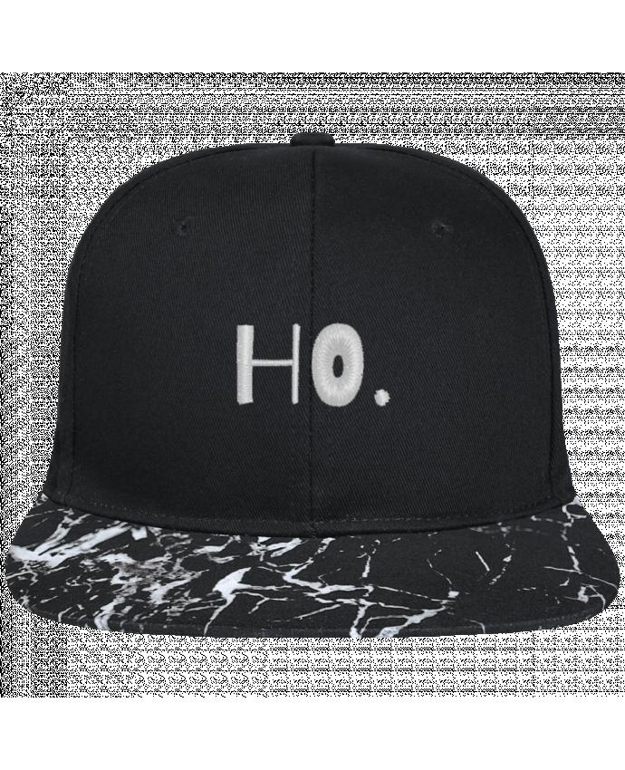 Casquette SnapBack Visière Graphique Noir Minéral Ho. brodé avec toile noire 100% coton et visière imprimée motif miné