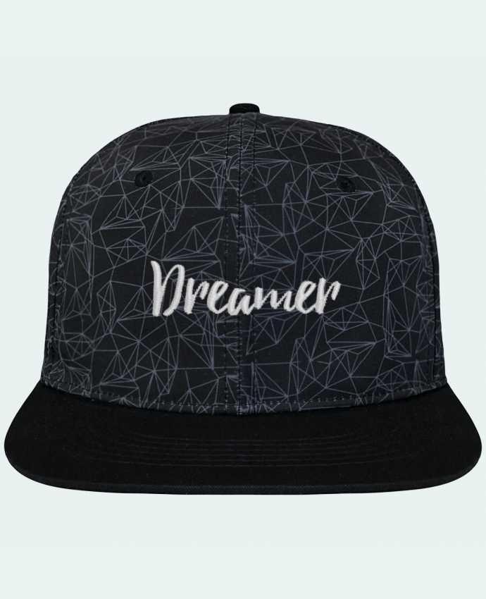 Casquette SnapBack Couronne Graphique Géométrique Dreamer brodé avec toile imprimée et visière noire