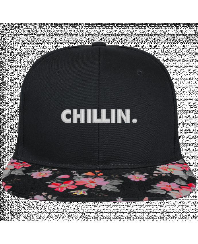 Snapback faded floral Chillin. brodé et visière à motifs 100% polyester et toile coton