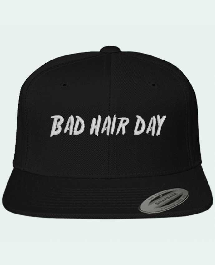 Snapback classique brodé Bad hair day par tunetoo