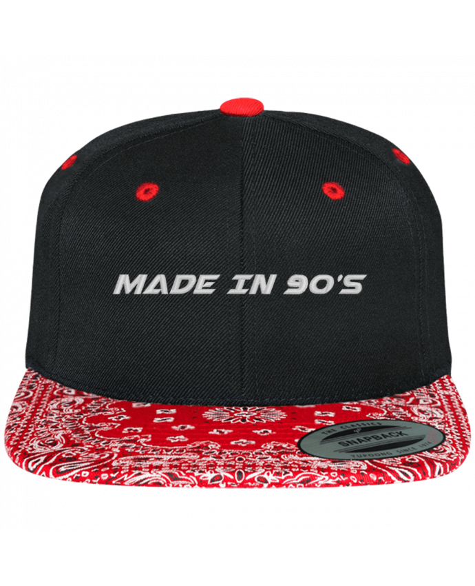 Casquette Snapback Motif Made in 90s par tunetoo