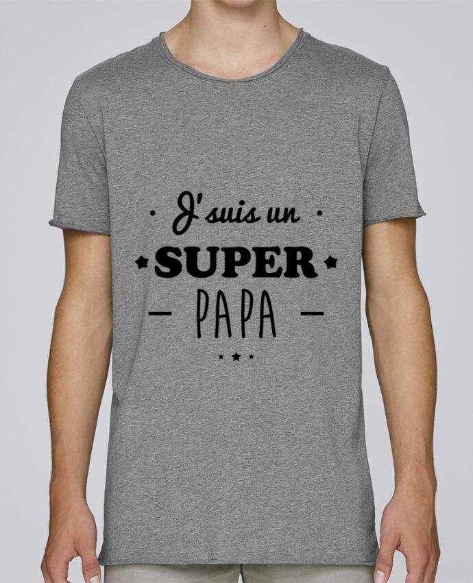 T-shirt Homme Oversized Stanley Skates Super papa,cadeau père,fête des pères par Benichan