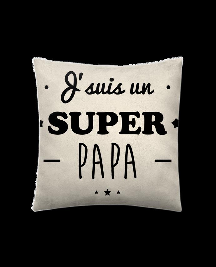 Coussin Toucher Peau de Pêche 41 x 41 cm Super papa,cadeau père,fête des pères par Benichan