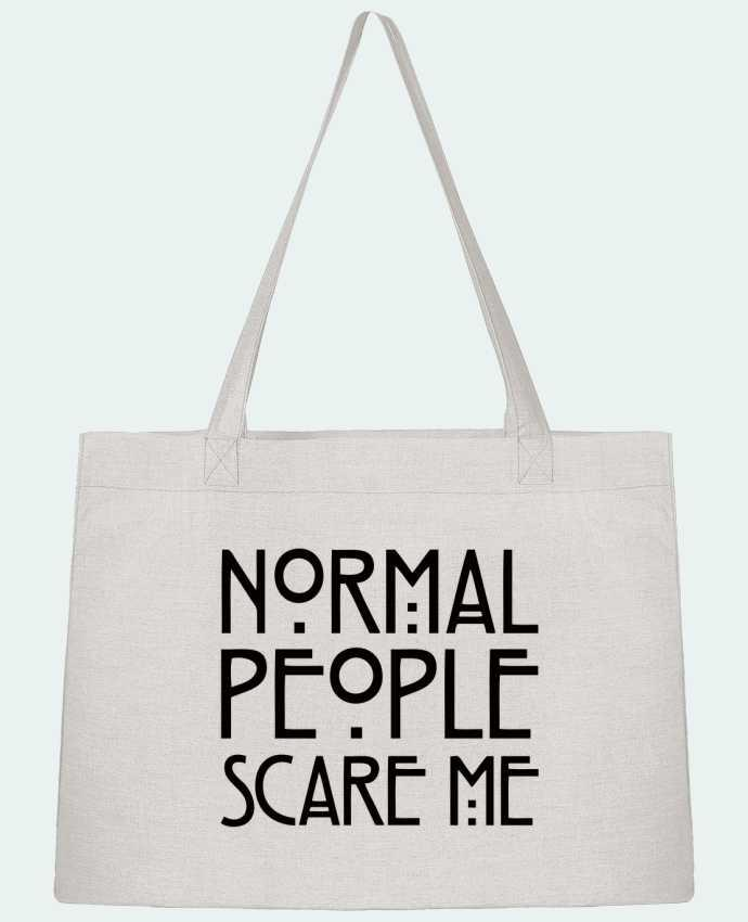 Sac Cabas Shopping Stanley Stella Normal People Scare Me par Freeyourshirt.com