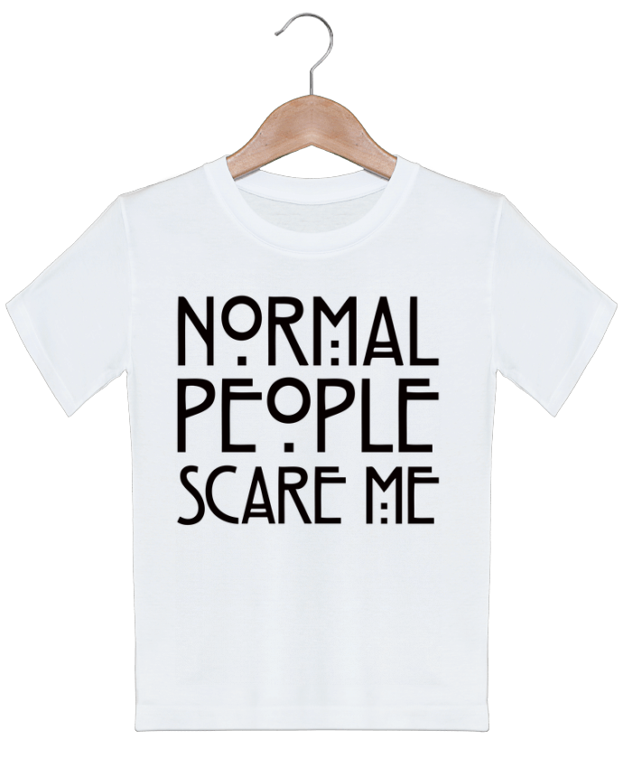 T-shirt garçon motif Normal People Scare Me Freeyourshirt.com