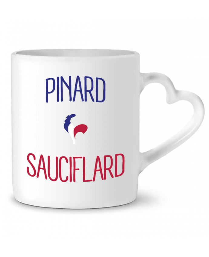 Mug Coeur Pinard Sauciflard par Freeyourshirt.com
