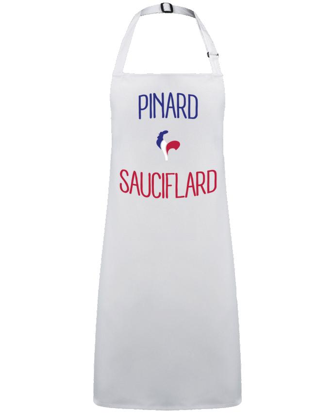 Tablier Sans Poche Pinard Sauciflard par  Freeyourshirt.com