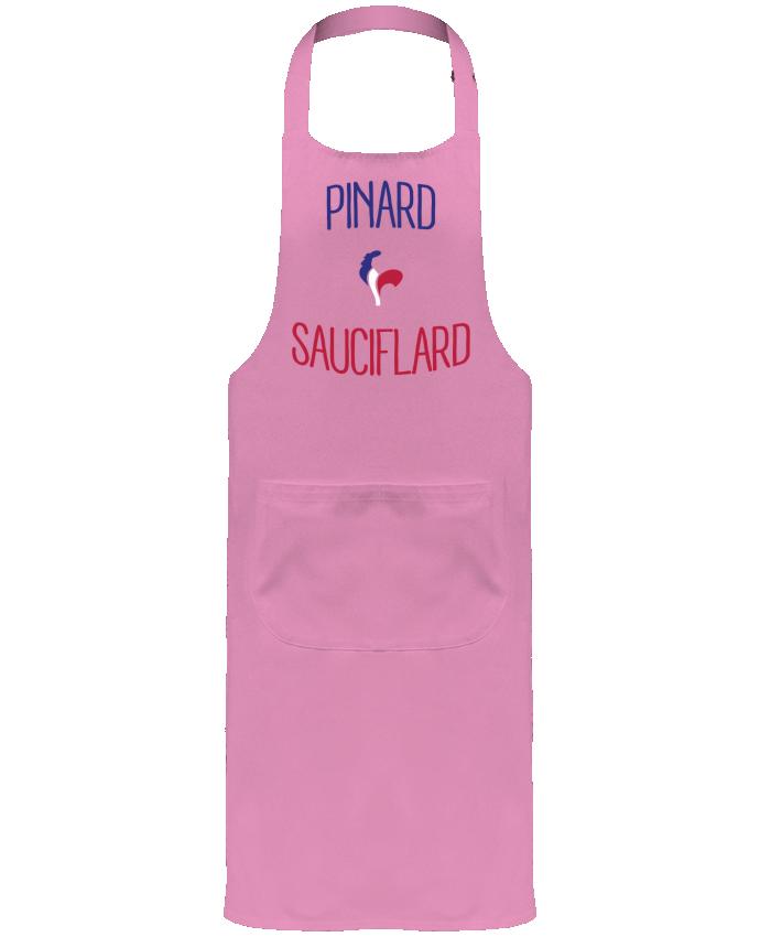 Tablier de Jardinier ou Sommelier avec Poche Pinard Sauciflard par Freeyourshirt.com