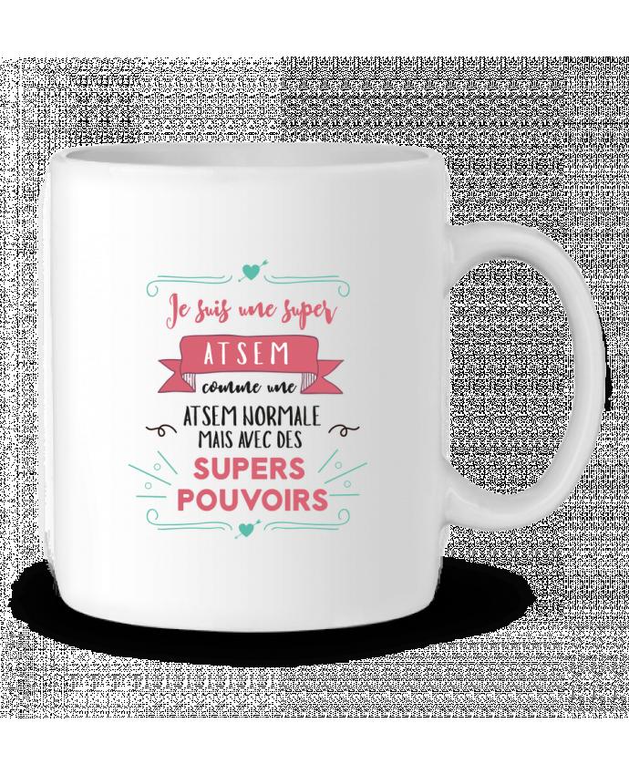 Mug en Céramique Je suis une super ATSEM par tunetoo