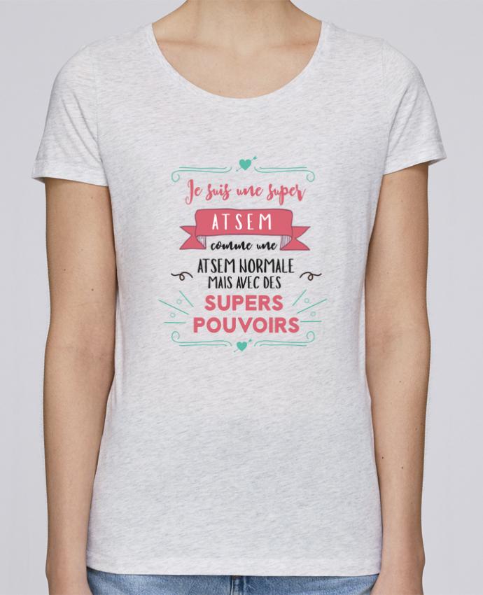 T-shirt Femme Stella Loves Je suis une super ATSEM par tunetoo