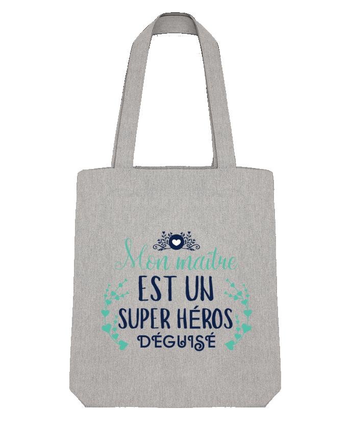 Tote Bag Stanley Stella Mon maître est un super héros déguisé par tunetoo