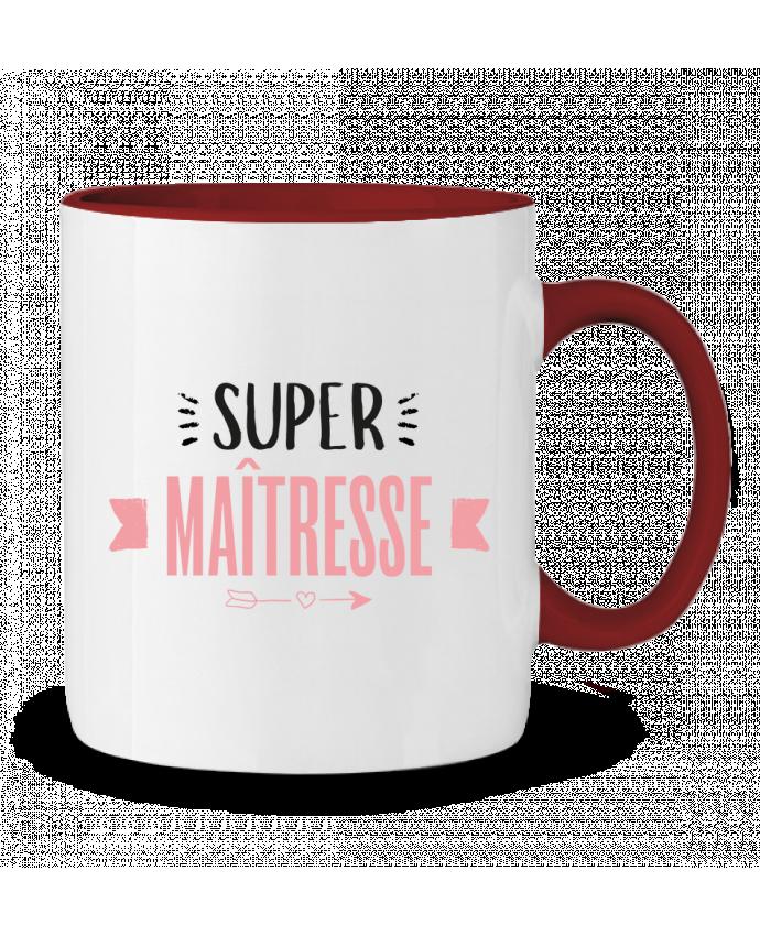 Mug en Céramique Bicolore Super maîtresse !! tunetoo