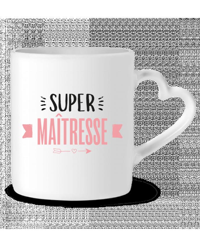 Mug Coeur Super maîtresse !! par tunetoo
