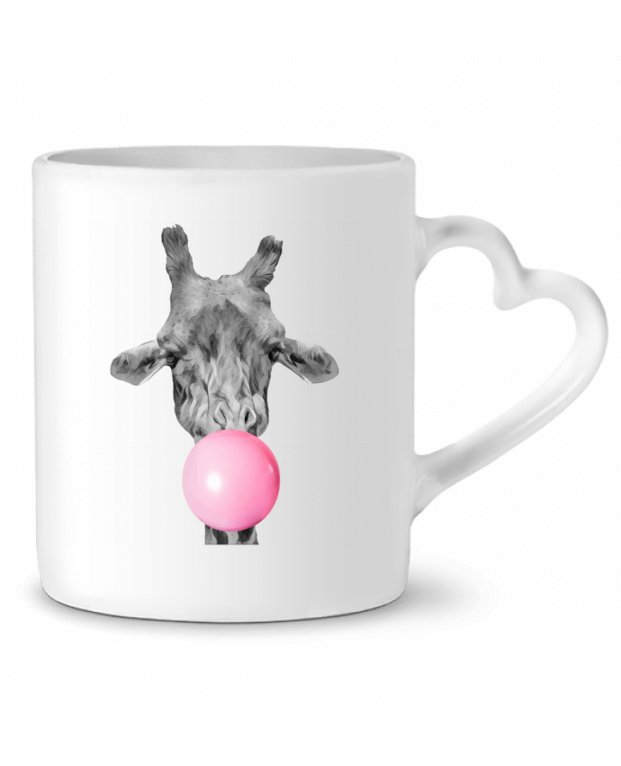 Mug Coeur Girafe bulle par justsayin