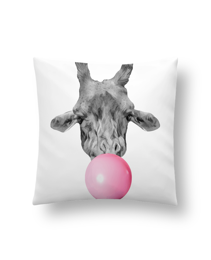 Coussin Synthétique Doux 41 x 41 cm Girafe bulle par justsayin