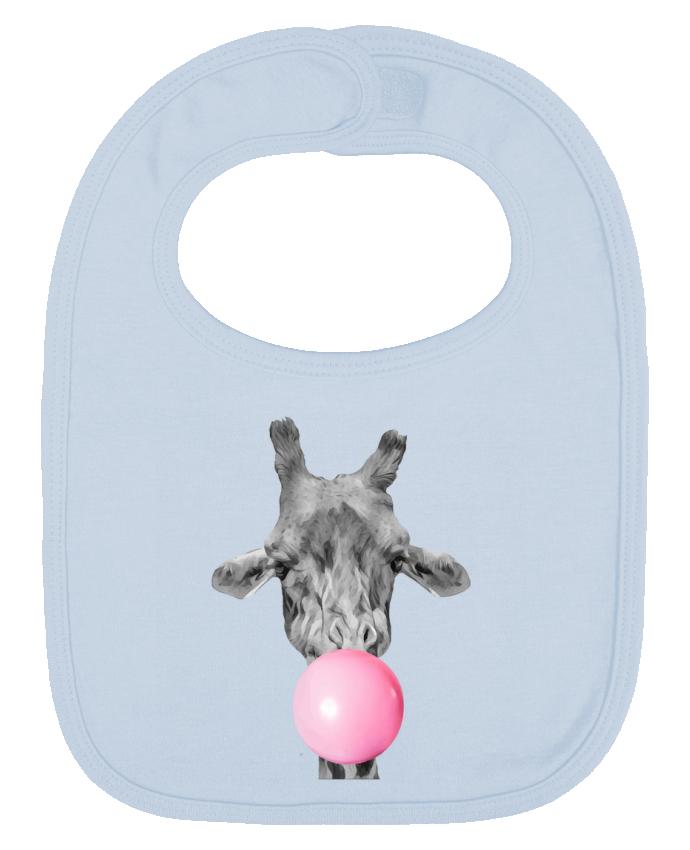 Bavoir Uni et Contrasté Girafe bulle par justsayin