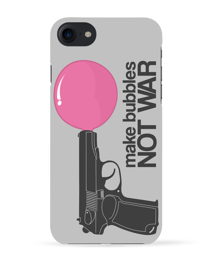 Coque 3D Iphone 7 Make bubbles NOT WAR de justsayin