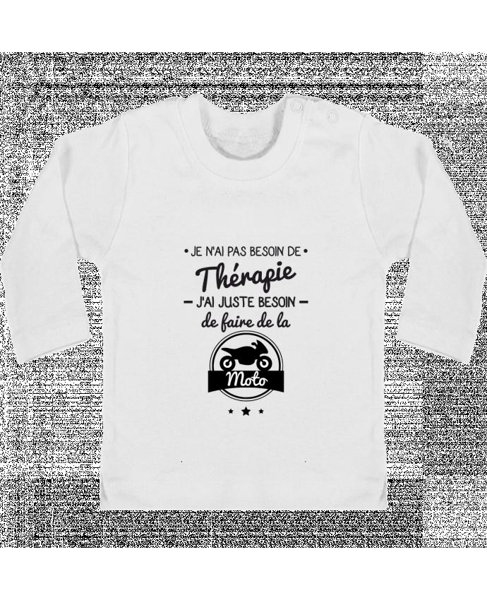 T-shirt Bébé Manches Longues Boutons Pression J'ai juste besoin de ma moto, tee shirt moto, motard manches longues du designer Benic