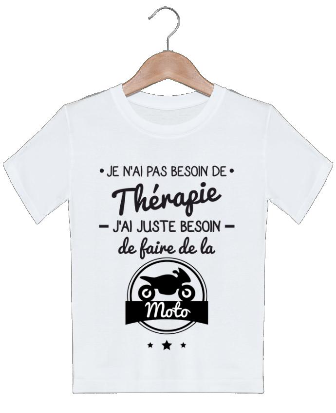 T-shirt garçon motif J'ai juste besoin de ma moto, tee shirt moto, motard Benichan