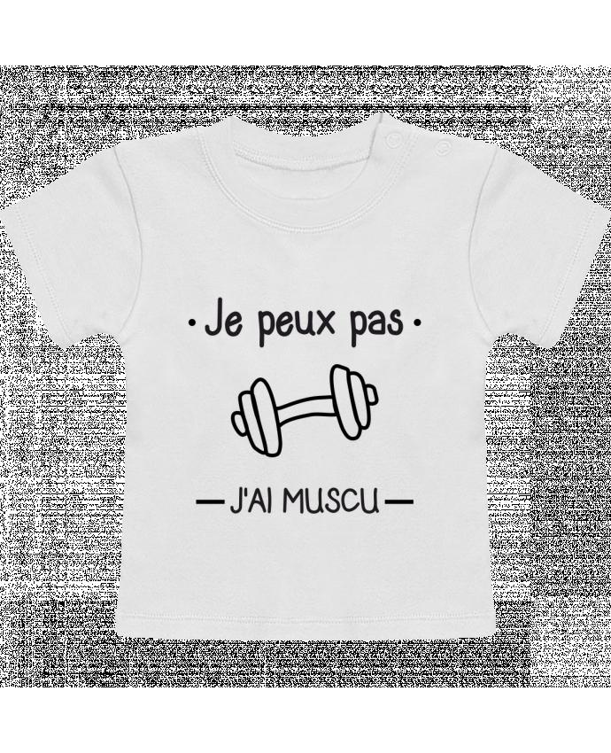 T-Shirt Bébé Manches Courtes Je peux pas j'ai muscu, musculation manches courtes du designer Benichan
