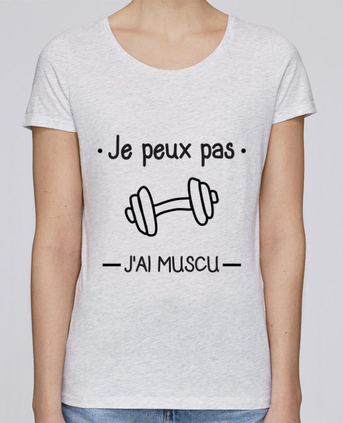 T-shirt Femme Stella Loves Je peux pas j'ai muscu, musculation par Benichan