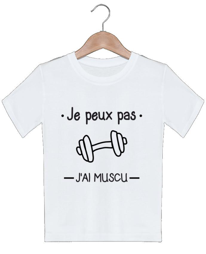 T-shirt garçon motif Je peux pas j'ai muscu, musculation Benichan