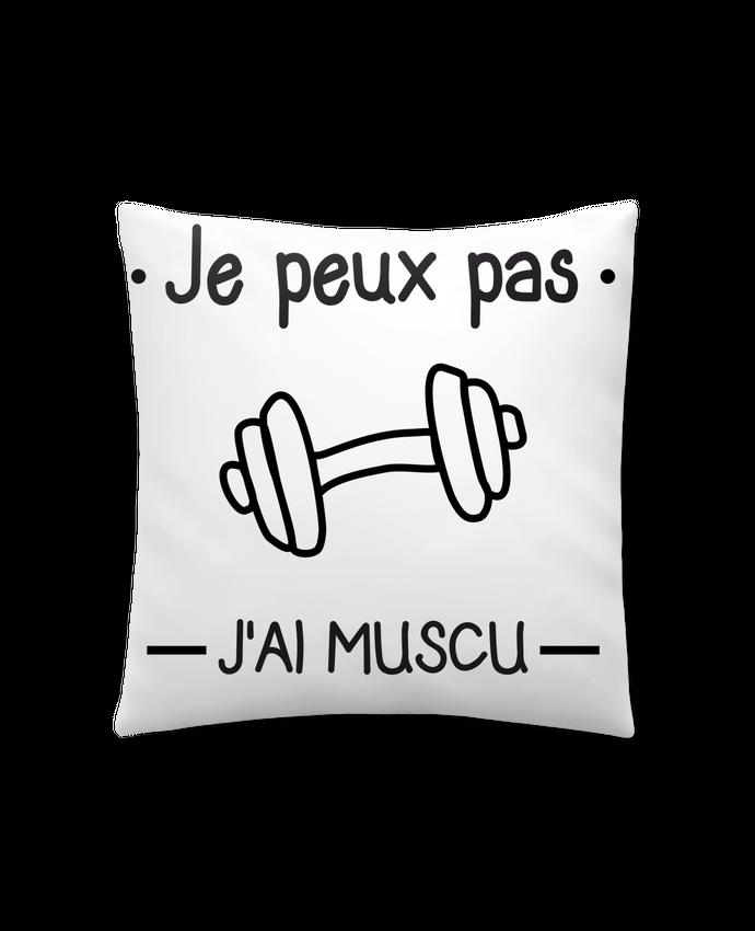 Coussin Synthétique Doux 41 x 41 cm Je peux pas j'ai muscu, musculation par Benichan
