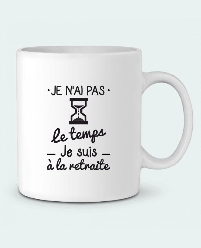 Mug en Céramique Pas le temps, je suis à la retraite, tee shirt retraité par Benichan