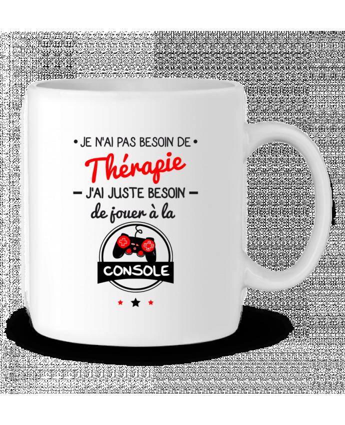 Mug en Céramique Tee shirt marrant pour geek,gamer : Je n'ai pas besoin de thérapie, j'ai juste besoin de joue