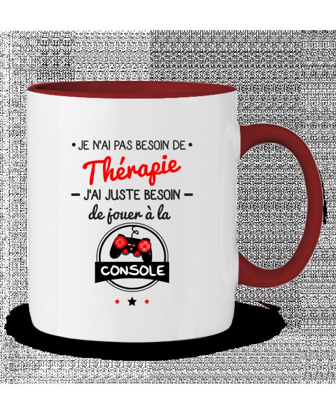 Mug en Céramique Bicolore Tee shirt marrant pour geek,gamer : Je n'ai pas besoin de thérapie, j'ai juste besoin