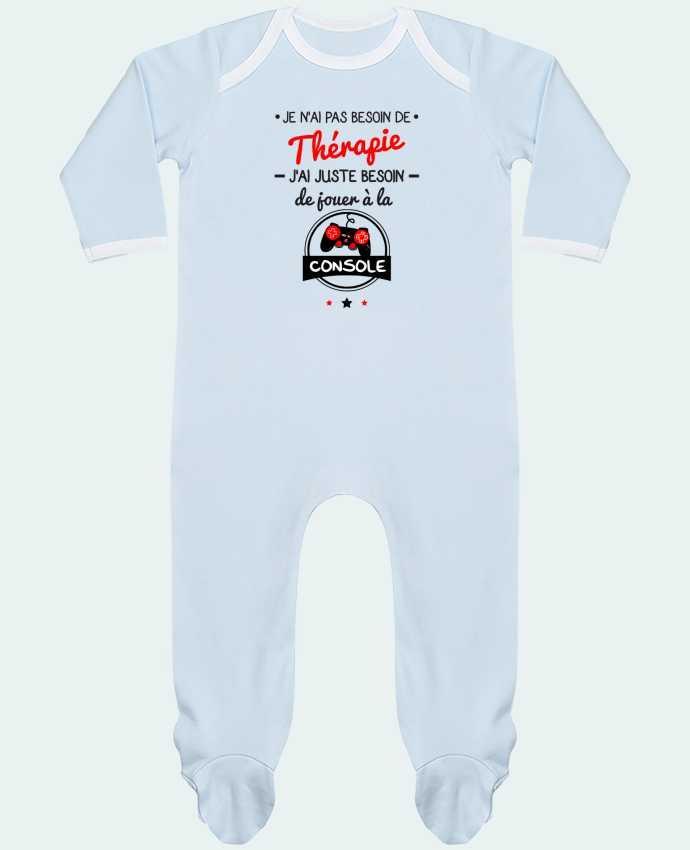 Pyjama Bébé Manches Longues Contrasté Tee shirt marrant pour geek,gamer : Je n'ai pas besoin de thérapie, j'ai juste be