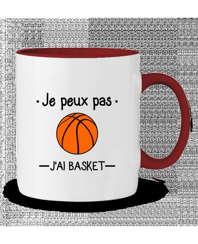 Mug en Céramique Bicolore Je peux pas j'ai basket,basketball,basket-ball Benichan