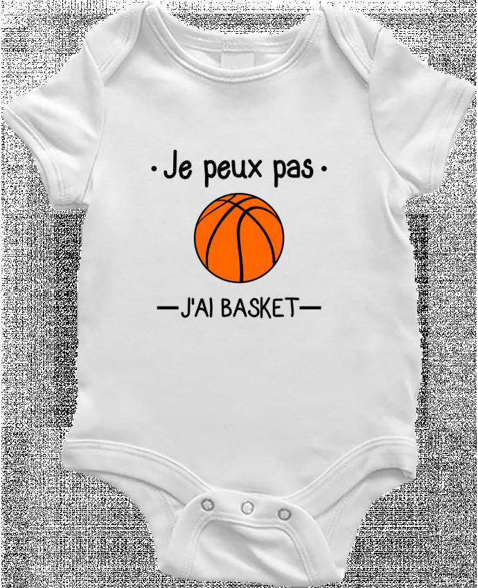 Body Bébé Je peux pas j'ai basket,basketball,basket-ball par Benichan