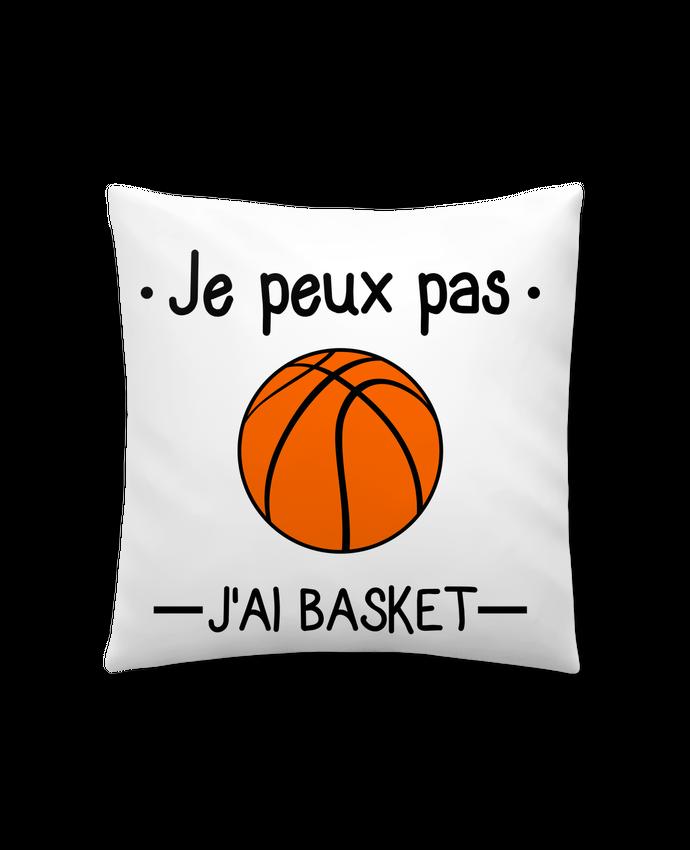 Coussin Synthétique Doux 41 x 41 cm Je peux pas j'ai basket,basketball,basket-ball par Benichan