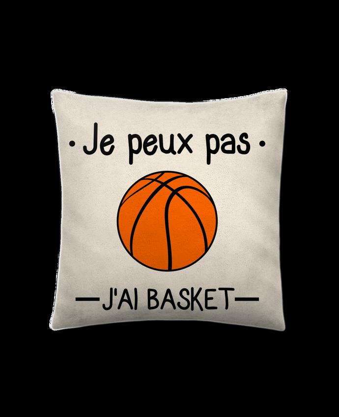 Coussin Toucher Peau de Pêche 41 x 41 cm Je peux pas j'ai basket,basketball,basket-ball par Benichan