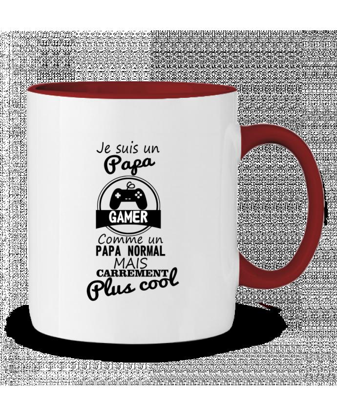 Mug en Céramique Bicolore Papa gamer, cadeau père, gaming, geek Benichan
