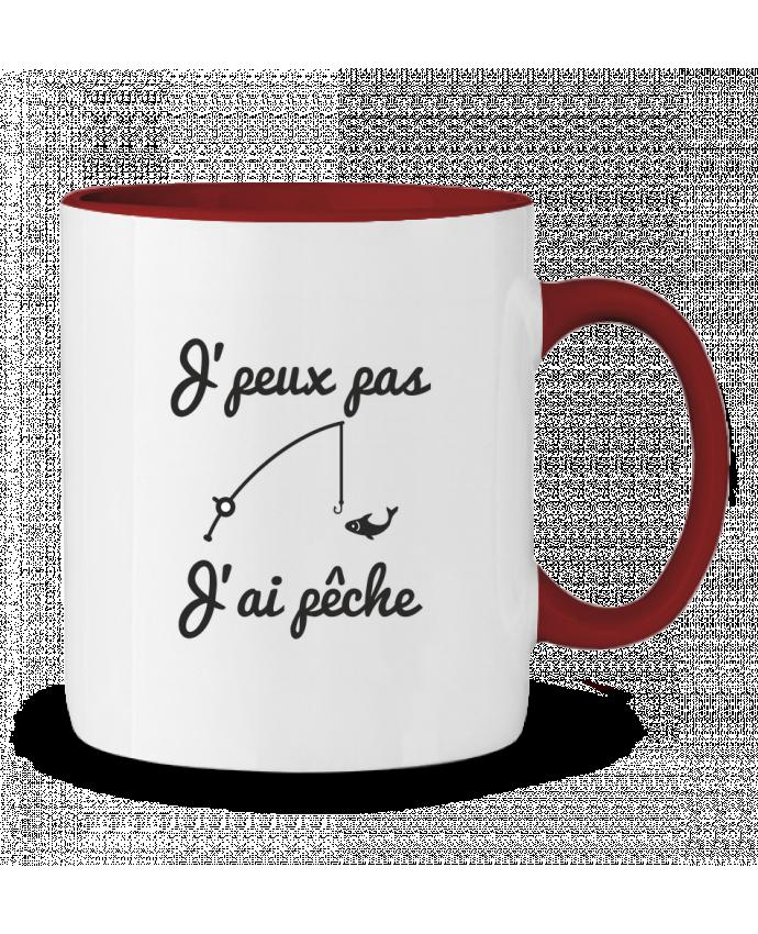Mug en Céramique Bicolore J'peux pas j'ai pêche,tee shirt pécheur,pêcheur Benichan